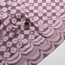 Plum Daisy Lace Fabric Remnant 0.90m